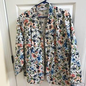 NEW Sag Harbor Open Front Floral Blazer Size 24W